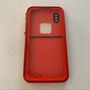 NWOT Lifeproof Red/Grey FRĒ Case for iPhone X/Xs